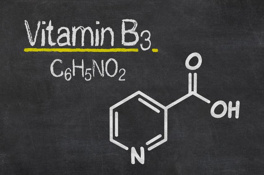 moleculaire structuur van vitamine b3
