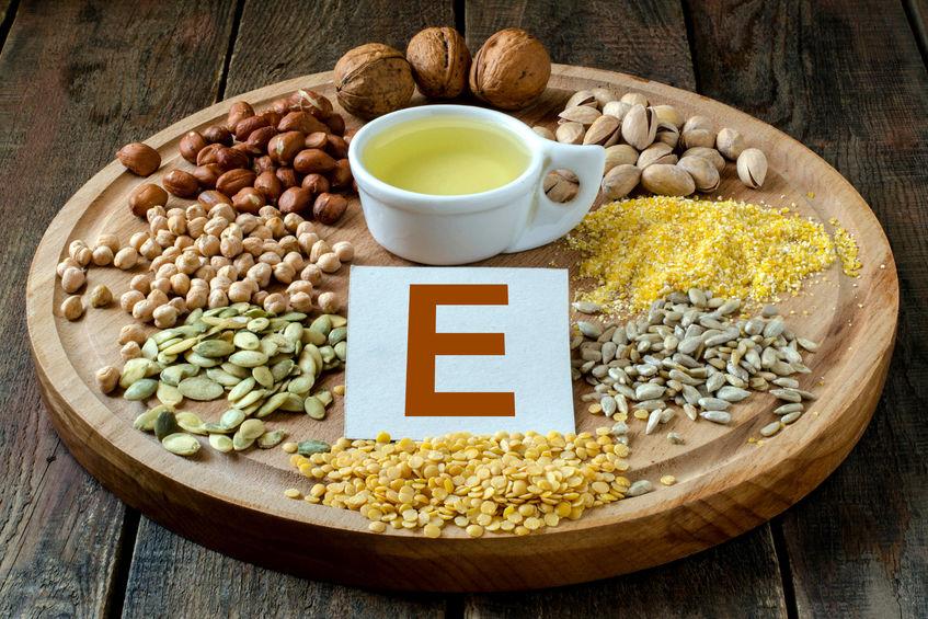 Voedingsmiddelen met vitamine E.