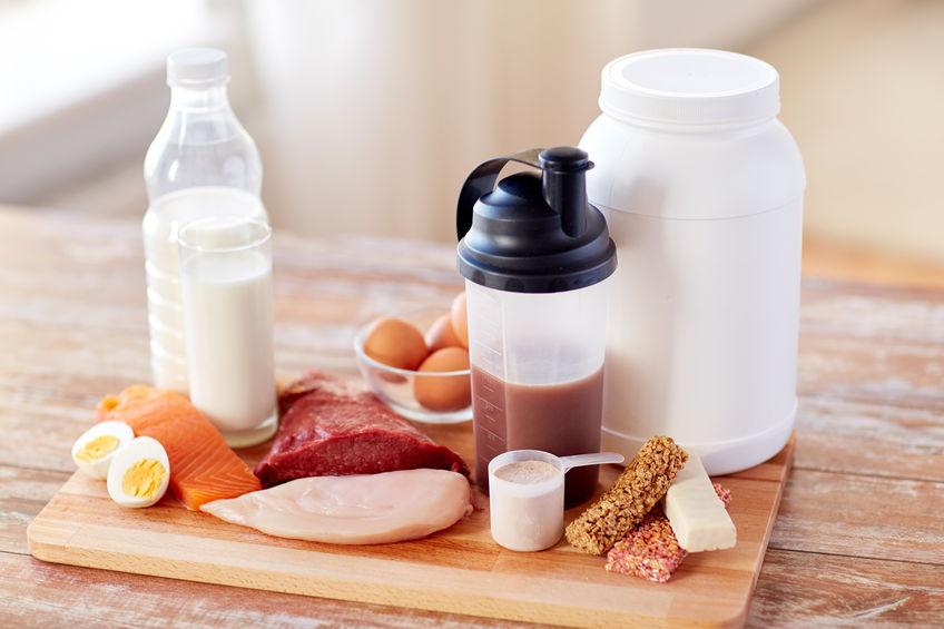 close up van natuurlijke proteïne voeding en additief