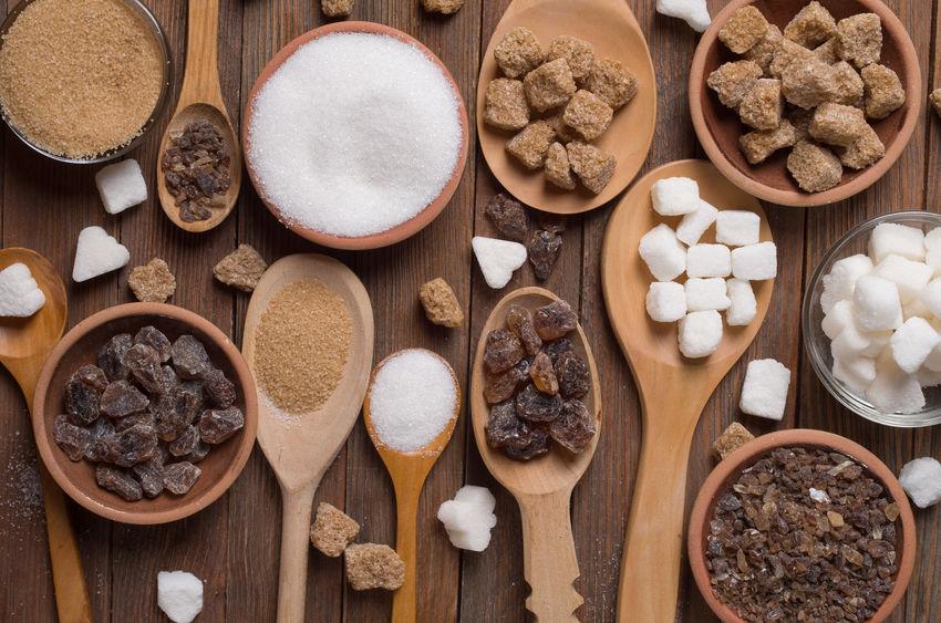 Diverse soorten suiker