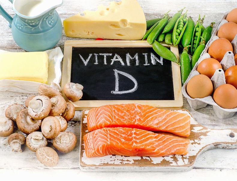 Voedingsmiddelen rijk aan vitamine D.