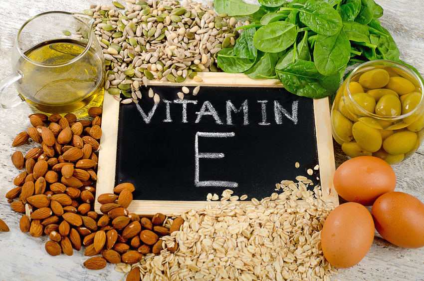 Natuurlijke voedingsmiddelen rijk aan vitamine E.