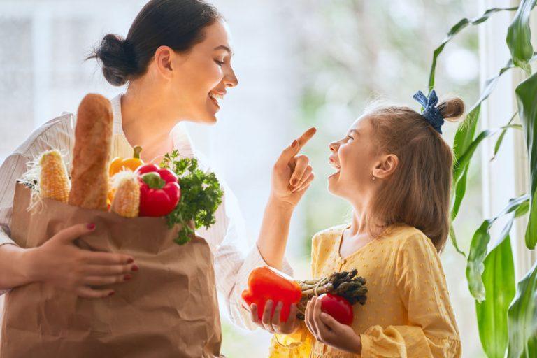 gezonde moeder en dochter