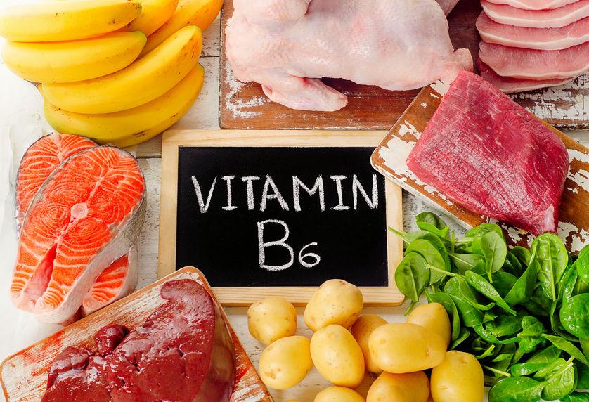 Voedingsmiddelen met vitamine B6 (pyridoxine). Gezond eten.