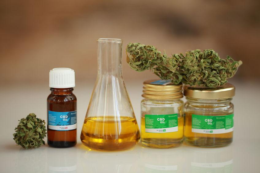 olie van cannabisproducten