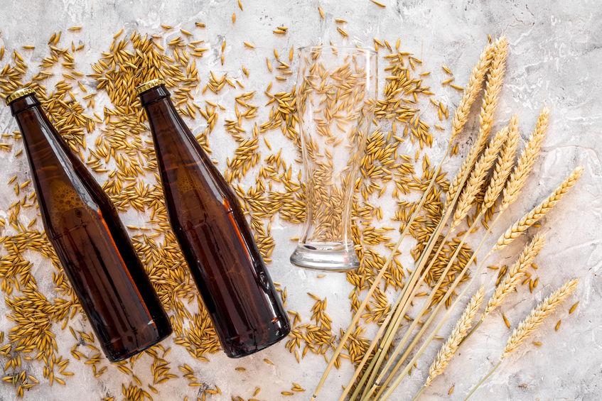 tarwekorrels en flessen