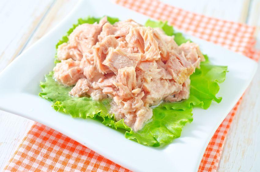 tonijnsalade op een bord