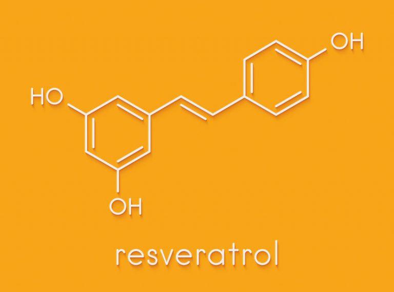 moleculaire representatie van resveratrol