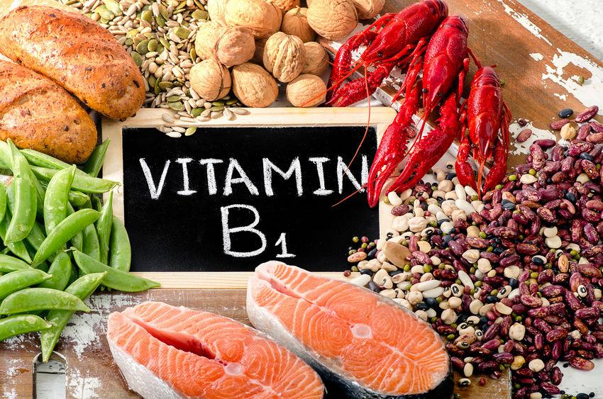 Voedingsmiddelen met het hoogste gehalte aan vitamine B1 (thiamine).
