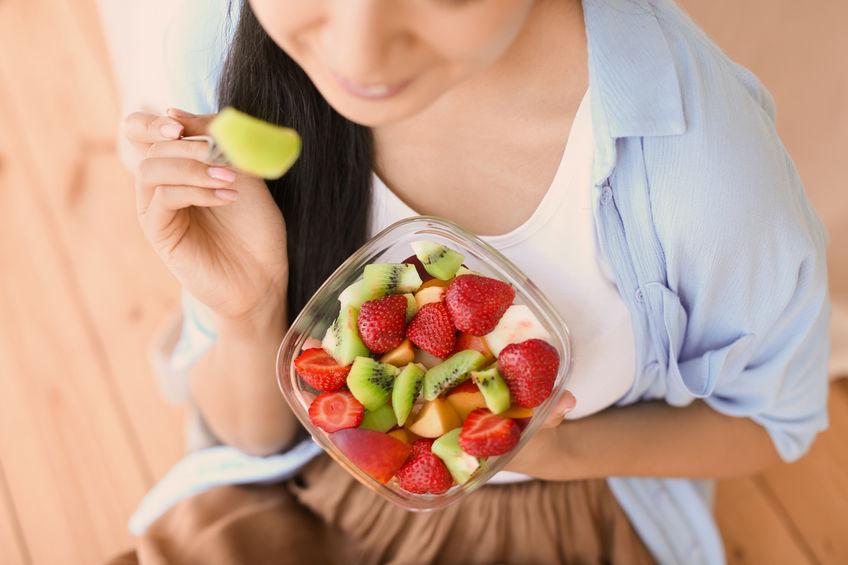meisje gezond eten