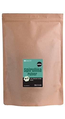 Wohltuer Bio-Spirulina poeder 250 g A-kwaliteit (DE-ÖKO-006)