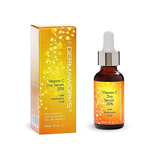 Dermaworks Vitamine C Serum + hyaluronzuur en niacinamide voor huidverlichting en anti-aging huidverzorging