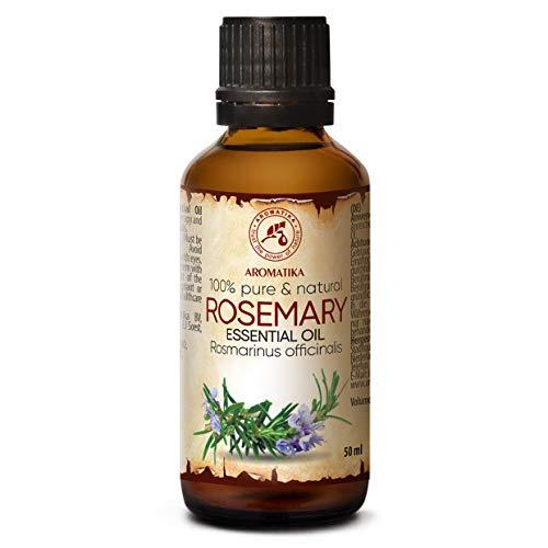 Rozemarijn Essentiële Olie 50 ml - Rosmarinus Officinalis - Spanje - 100% Natuurlijk en Pure Rozemarijnolie Goed voor Aromatherapie - Geurverspreider - Geurlamp