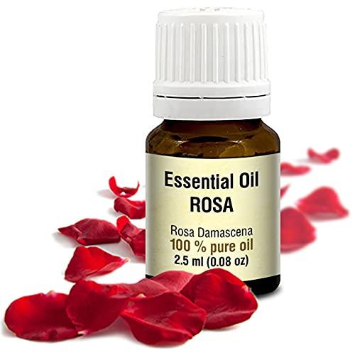Rozenolie – Rosa Damascena etherische olie 2.5ml, 100% puur & natuurlijk, essentiële olie - aromatherapie - geurolie - geurverspreider - ontspanning - toevoegen aan bad & cosmetica - massage - wellness - aroma lamp of elektrische diffuser
