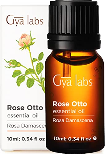 Gya Labs Rose Essentiële Olie voor stressverlichting, huidverzorging en ontspanning - actueel voor de rijpere huid, droge huid - diffuus om de stemming te verbeteren - pure therapeutische rozenolie etherische olie voor aromatherapie -10ml