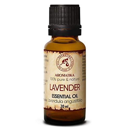 Lavendel olie - etherische olie 20ml, 100% puur & natuurlijk, essentiële olie - aromatherapie - geurolie - geurverspreider - ontspanning - toevoegen aan bad & cosmetica - massage - wellness - aroma lamp of elektrische diffuser