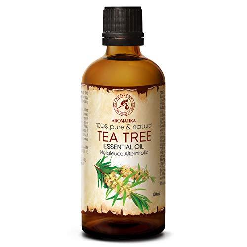 Tea Tree olie - etherische olie 100ml, 100% puur & natuurlijk, essentiële olie - aromatherapie - geurolie - geurverspreider - ontspanning - toevoegen aan bad & cosmetica - massage - wellness - aroma lamp of elektrische diffuser