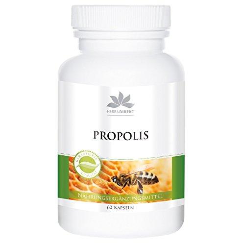 Bee Propolis Capsules - 500mg propolis per capsule - Hoge dosering - 60 capsules