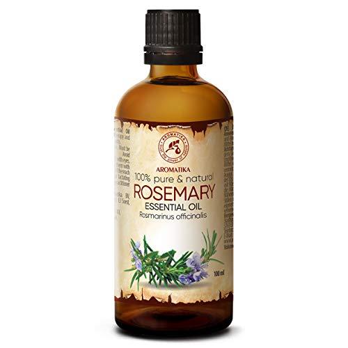 Rozemarijn olie - etherische olie 100ml, 100% puur & natuurlijk, essentiële olie - aromatherapie - geurolie - geurverspreider - ontspanning - toevoegen aan bad & cosmetica - massage - wellness - aroma lamp of elektrische diffuser