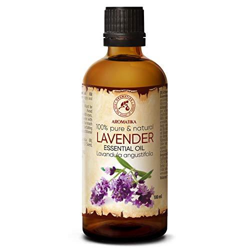 Lavendel olie - etherische olie 100ml, 100% puur & natuurlijk, essentiële olie - aromatherapie - geurolie - geurverspreider - ontspanning - toevoegen aan bad & cosmetica - massage - wellness - aroma lamp of elektrische diffuser
