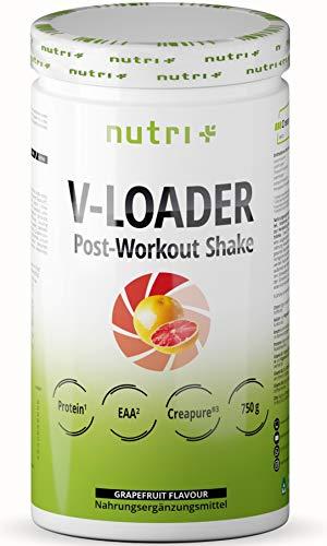 POST WORKOUT Shake V LOADER - spieropbouw en bodybuilding - 750g grapefruitpoeder - maltodextrine - eiwitpoeder - BCAA - creatinemonohydraat - L-glutamine - veganistisch supplement