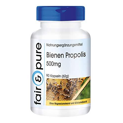 Bijen propolis capsules 500mg - natuurlijk - rijk aan flavonoïden en procyanidinen - zonder magnesiumstearaat - 90 propolis capsules