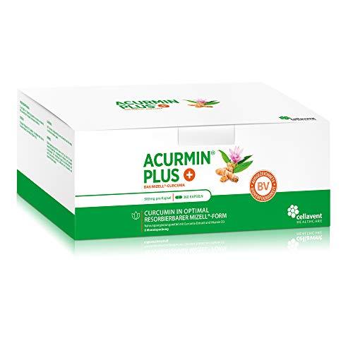 Kurkuma-capsules hoge dosering Acurmin PLUS - micellaire curcumine C14 gecertificeerd - zonder peper, piperine, 360 capsules