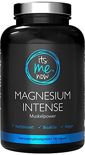 itsme.now® Magnesium Intense - 180 stuks magnesium capsules - 600 mg magnesium hoge dosis elementair magnesium - hoger gehalte dan magnesiumcitraat - veganistisch - Made in Germany