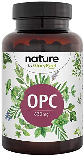 OPC Capsules - Hoogste OPC-gehalte volgens HPLC - 1050mg druivenpitextract met 630mg pure OPC - Laboratoriumstudie van Franse druiven - 180 capsules - Veganistisch, hoge dosis geproduceerd in Duitsland