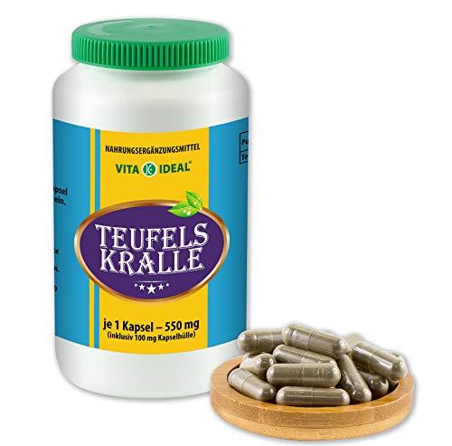 Vitayideal ® duivelsklauw wortel (Harpagophytum procumbens, Devil's Claw) 360 capsules van elk 550 mg, van puur natuurlijke kruiden, zonder additieven van NEZ-discounter