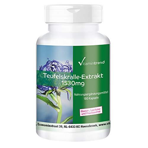 Teufelsklauw extract 1530 mg - 180 capsules - veganistisch - harpagofydom
