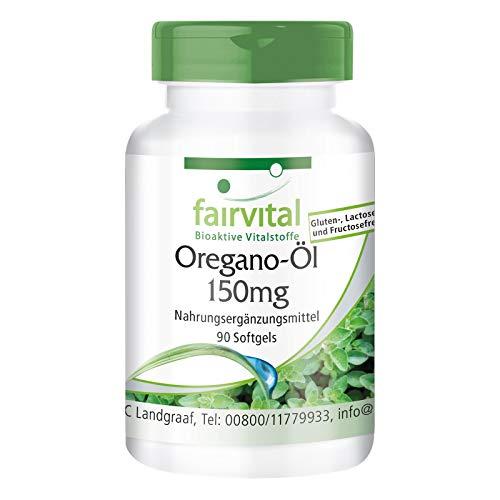 Oregano olie capsules 150mg - HOOG GEDOSEERD - oregano oil 10:1 extract - VEGAN - Origanum vulgare - 90 softgels