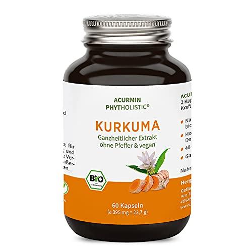 Biologische kurkuma-capsules - 40-voudige biobeschikbaarheid zonder peper - winnaar 2020 - C14- gecertificeerd - 60 stuks
