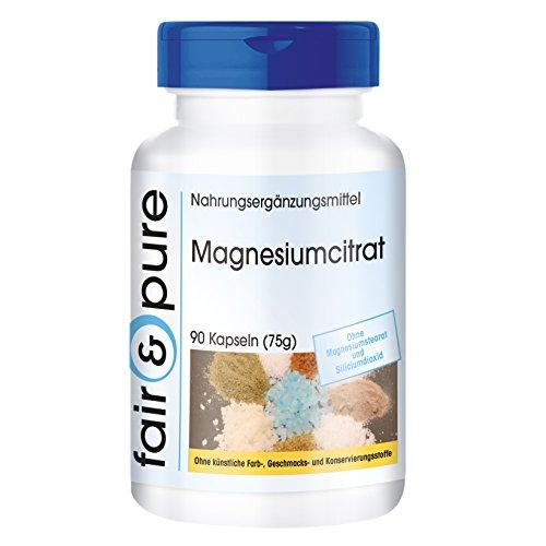 Magnesiumcitraat capsules - hoge dosering met 300mg zuiver magnesium per dagdosis - vegan - zonder magnesiumstearaat - 90 capsules
