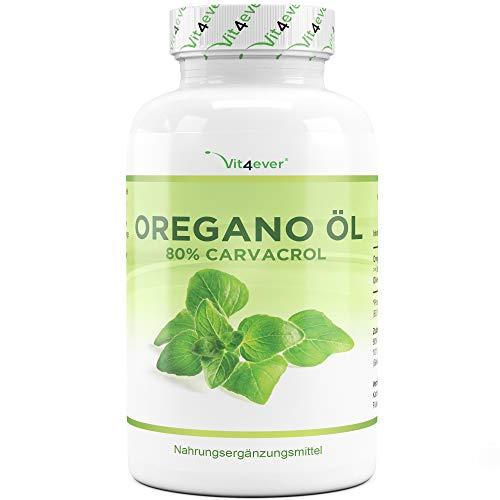 Oregano olie - 120 capsules met 150 mg - Premium: 80% carvacrol & 10-voudig geconcentreerd - 100% oreganoolie uit Frankrijk - origanum vulgare - laboratorium getest - hoge dosis