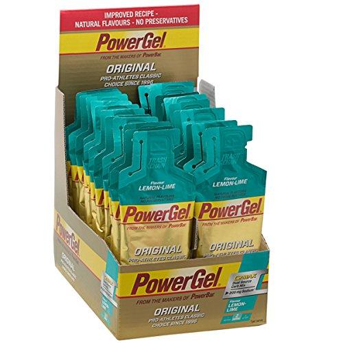 Power Gel Original met koolhydraten, maltodextrine en natrium, koolhydraatgel zonder conserveringsmiddelen, veganistisch, lime citroen, 24 x 41 g