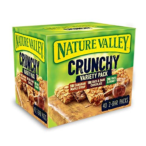 Nature Valley Crunchy Granola Bars Variety Pack 40 Bars x42gm Grote Value Pack
