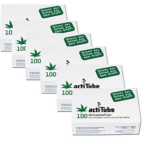 600 actiTube actieve koolfilter (6x100). Meer rookgenot door actieve kool