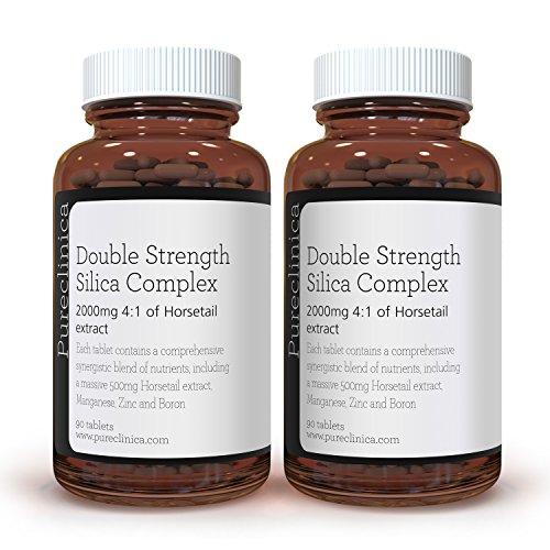Silica Complex met Dubbele Sterkte – 6 maanden voorraad! (500 mg Heermoes extract x 90 tabletten) SKU: SIL90x2