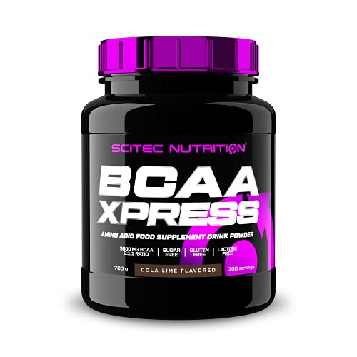 Scitec Nutrition BCAA-Xpress, Essential BCAA amino acid drink powder, sugar-free, gluten-free and lactose-free, 700 g, Cola-Lime