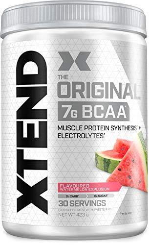 XTEND Original BCAA Powder Watermelon | BCAA-supplement | 7g BCAA's + Elektrolyten voor herstel & hydratatie | 30 Doseringen