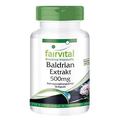 Valeriaan extract capsules - HOOG GEDOSEERD - 500mg valeriaanwortel extract 4:1 per capsule - VEGAN - Valeriana officinalis - 90 capsules