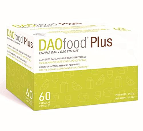 DAOfood Plus - Dieetmanagement van DAO-Deficiëntie - 60 EFICAPS-Capsules met Maagsapresistente Tabletten - DAO-enzym, Quercetine en Vitamine C