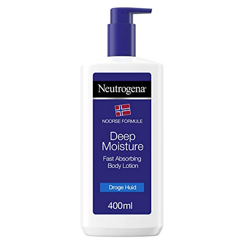 Neutrogena Deep Moisture snel absorberende bodylotion, Noorse formule, bodycrème, droge huid, 400 ml