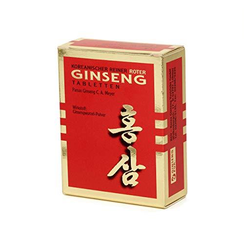 Koreaanse Rode Ginseng Pure - 60 Wortelpoeder-Tabletten (300 mg); Panax Ginseng C.A. Meyer