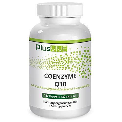 PlusVive - Coenzym Q10 capsules - hoog gedoseerd: 200 mg co-zym per capsule - met biologische beschikbaarheidsmatrix - 120 veganistische capsules - Made in Germany