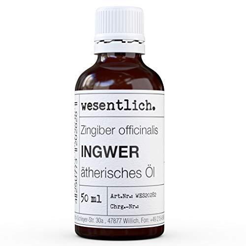 Gemberolie - pure etherische olie van wesentlich. - 100% natuurlijk uit het glazen flesje (50ml)