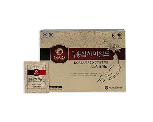 Koreaanse Rode Ginseng thee, doos met 50 sachets, stimuleert de bloedsomloop, het geheugen, de toon