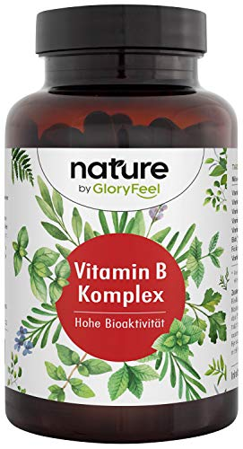 Vitamine B-complex in Bioactieve Vorm, 200 Veganistische Capsules, Hooggedoseerd Vitamine B-complex, B-vitamines tegen Vermoeidheid, Vitamine B1 B2 B3 B5 B6 B7 (Biotine) B9 (Foliumzuur) B12