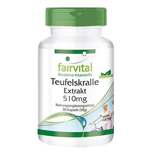 Duivelsklauw capsules 510mg - HOOG GEDOSEERD - VEGAN - 90 capsules, Harpagophytum procumbens